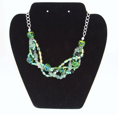 Twisted Green Beaded Necklace ($18.00)
