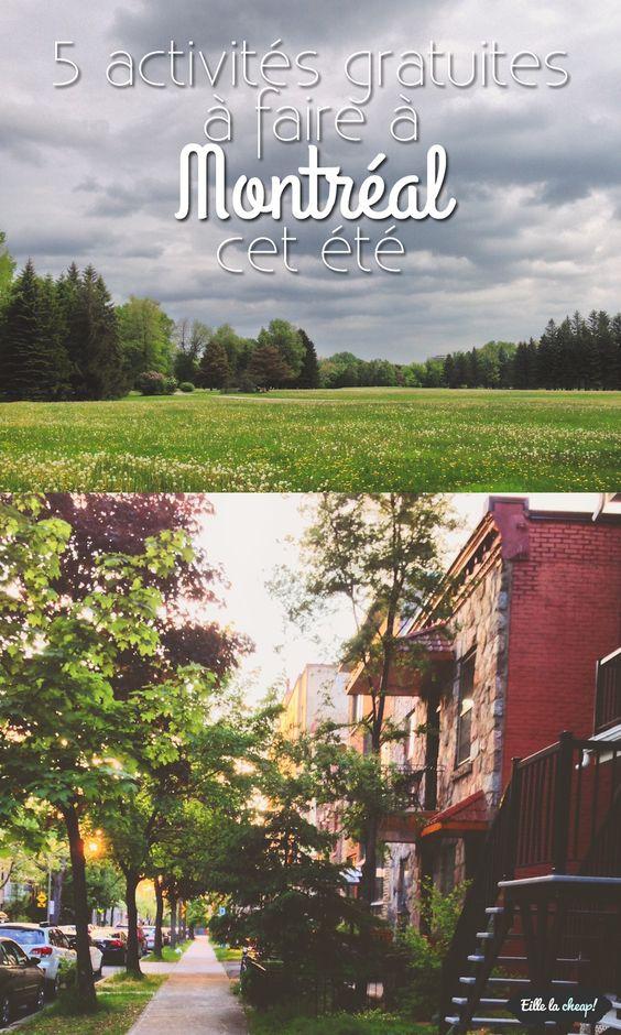 Envie d'avoir une vie sociale et active cet été, mais le budget n'est pas au rendez-vous? Voici 5 activités gratuites à faire à Montréal cet été.