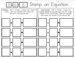 Stamping addition and subtraction