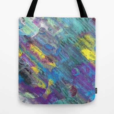 GrungePop #Tote #Bag by Idle Amusement #abstract #psychedelic #colorful #Society6 #ToteBags
