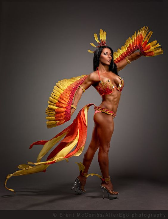 Phoenix Costume for WBFF Competitor Chelsea Webb by LuxIndustries.deviantart.com on @deviantART