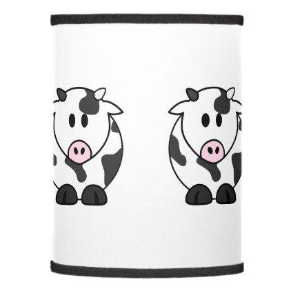 Cute Dairy Cow Lamp Shade Zazzle Com In 2020 Lamp Shade Dairy Cows Custom Lamp Shades