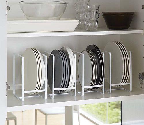 Vertical Plate Rack - Tidy Kitchen Organisation | Worktop Organisation | Cupboard Organisers | Kitchen Racks