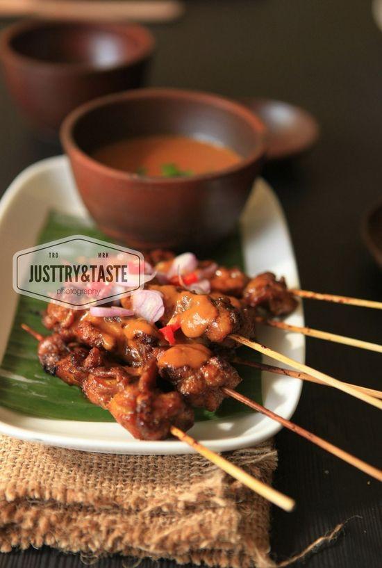 Sate Ayam Saus Selai Kacang Chicken Satay With Peanut Butter Sauce Selai Kacang Resep Masakan Sehat Fotografi Makanan