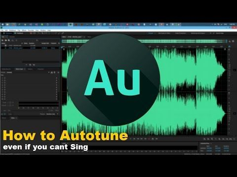 Audition Autotune Youtube Adobe Audition Audition Editing Writing