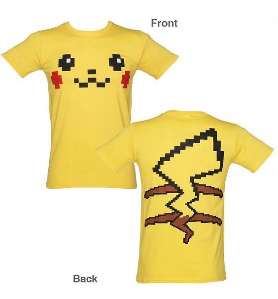 Men's #Pikachu Face #Costume T-Shirt from TruffleShuffle xoxo