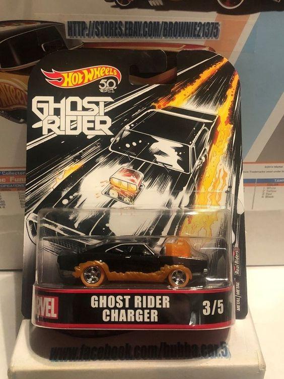 Dodge Charger Ghost Rider Retro Entertainment 1:64 Hot Wheels FLD30 DMC55