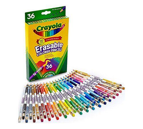 Crayola Erasable Colored Pencils 36 Non Toxic Pre Sharpened