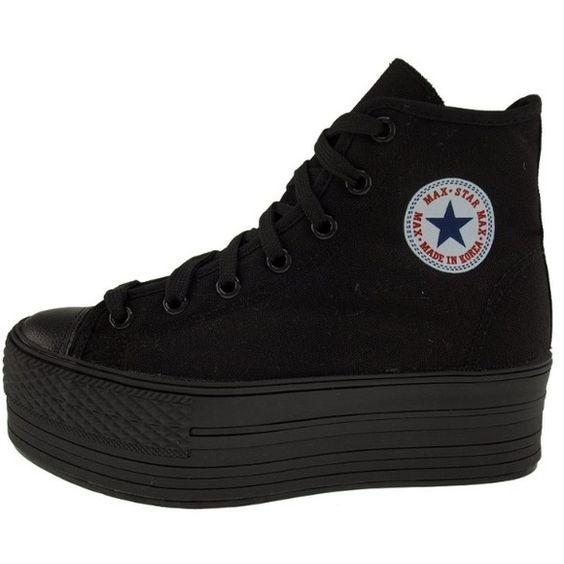 black platform converse Maxstar, black platform sneakers in excellent condition maxstar Shoes Platforms