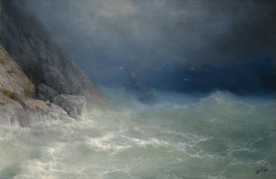 The Survivor, 1880, Ivan Konstantinovich Aivazovsky