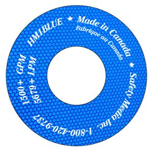 HYDRANT FLOW ID DISK BLUE HIGH INTENSITY REFLECTIVE + 1500 GPM