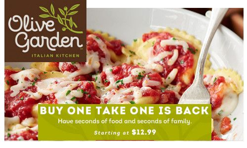 Olive Garden Coupon Score Free Entrees There Is A Great Olive Garden Coupon Where You Can Score 2 Free Olive Garden Coupons Olive Gardens Restaurant Coupons