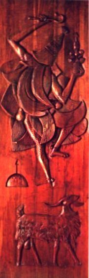 Omolu - Escultura del Caribe en madera