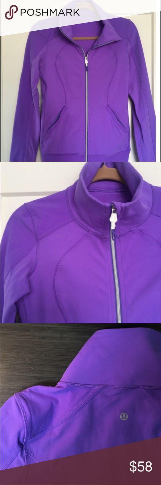 Lululemon zip up Beautiful purple, form fitting , no flaws lululemon athletica Jackets & Coats