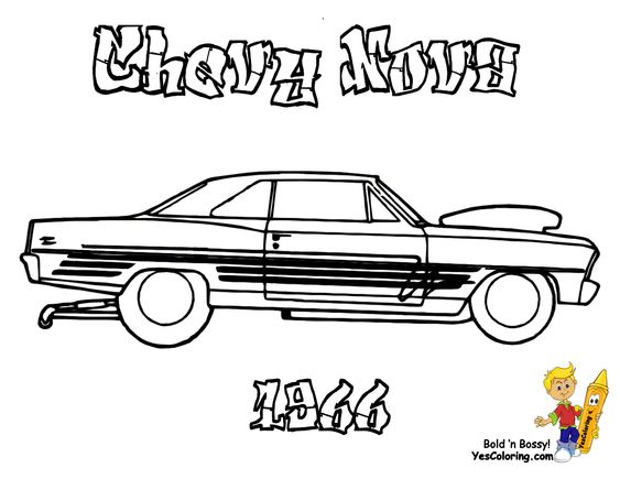 american muscle car coloring pages - photo#25