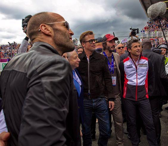 Jason Statham, Jean Todt, Brad Pitt, Keanu Reeves, Patrick Dempsey (em)
