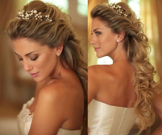 Penteado cabelo solto ou semi-preso para formatura, noivas, festas, debutante: Dicas e fotos: