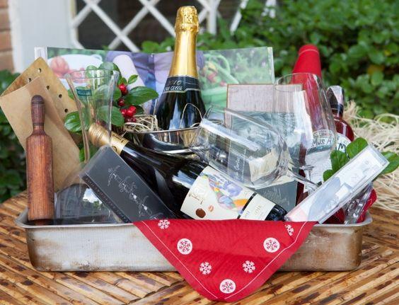 cesta de vinhos para culinarista