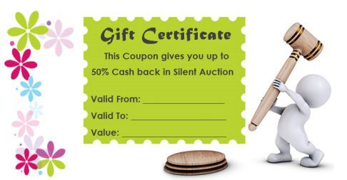Silent Auction Gift Certificates Gift Certificates