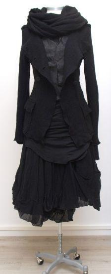 rundholz dip - Longshirt Double paint black - Winter 2015 - stilecht - mode für frauen mit format...
