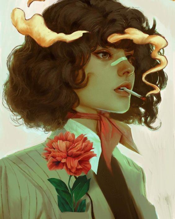 Aykut Aydogdu' Mesmerizing Illustrated Female Portraits   Trendland Online Magazine Curating the Web since 2006