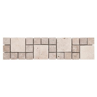 Farra Decorative Travertine Border - 3in. x 12in. | Floor and Decor
