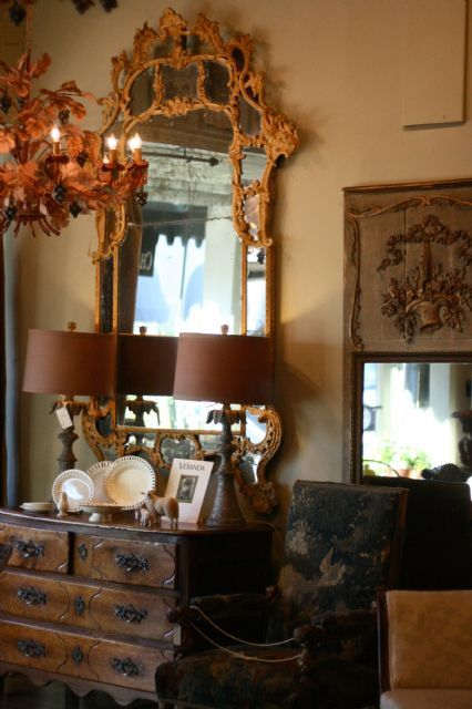 I love antique mirrors. Such beautiful detail.: