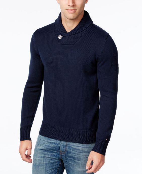 Tommy Hilfiger Men's Shane Knit Shawl-Collar Sweater