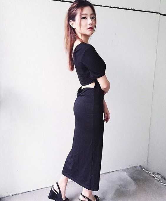 Joanna in our Angeliya Hole Back Dress WWW.LBRLABEL.COM #lbrlabel #lbrootd