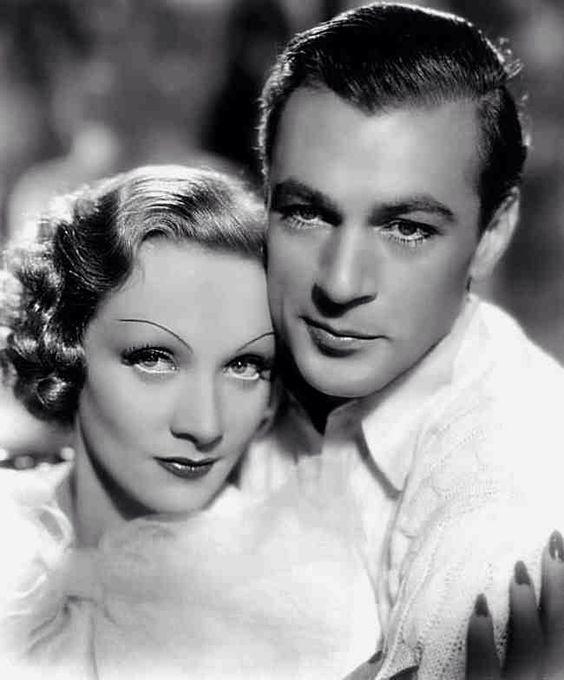 "Marlene Dietrich with Gary Cooper for ""Desire"" (1936)"