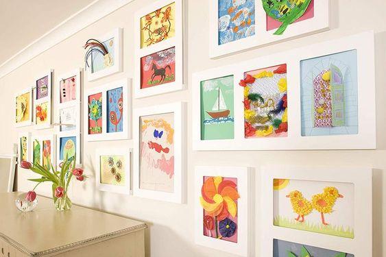 Bilderrahmen A4 für Kinderbilder, mit Aufbewahrungsfunktion, weiß, von Articulate Gallery
