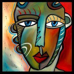 abstract face artwork