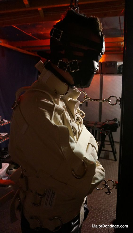 Gear: Blindfold Muzzle Straight Jacket Leather Pants Boots