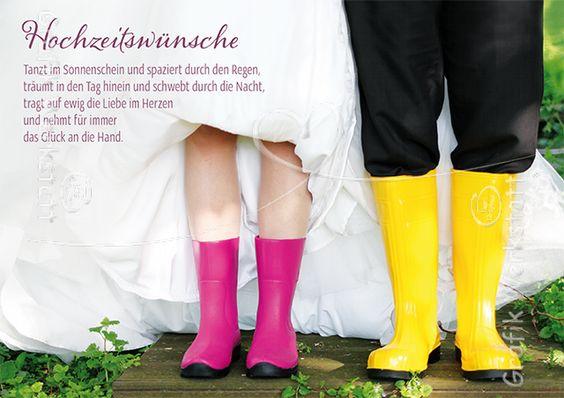 Hochzeitswünsche - Doppelkarten - Grafik Werkstatt Bielefeld