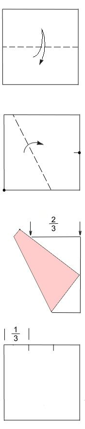 How to Divide Paper into Thirds