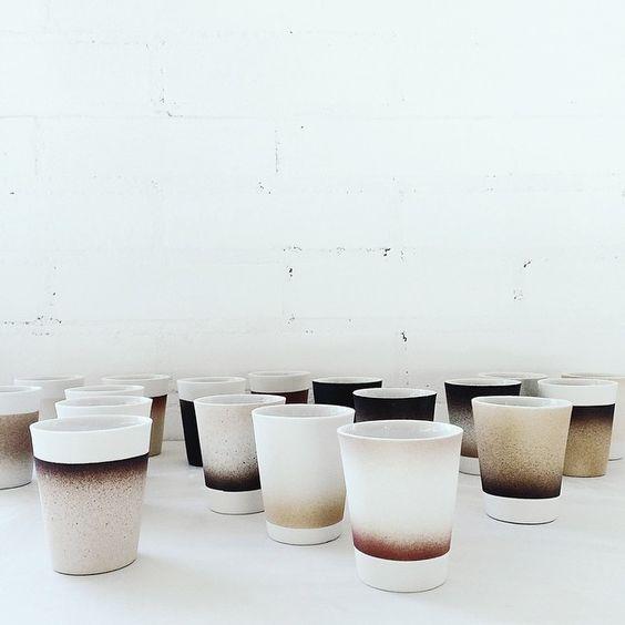 Kirstie Van Noort #ceramics #cups