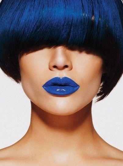 trucco blu labbra blu - Cerca con Google