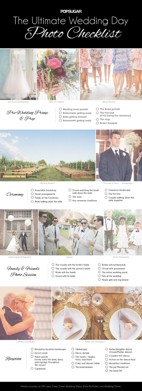 All the photos you need to take on your wedding day!: