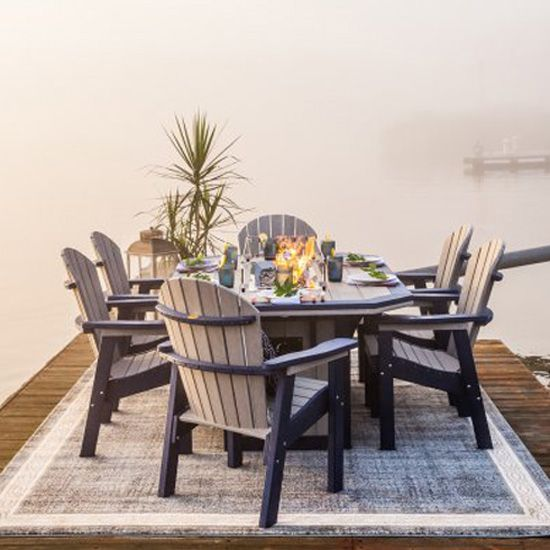 Fire Pit Dining Tables Outdoor Patio Furniture American Recycled