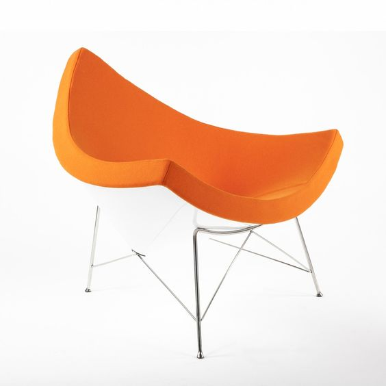 Mid Century George Nelson Replica Coconut Chair - Orange, France and Son, http://www.franceandson.com/the-coconut-chair-orange.html