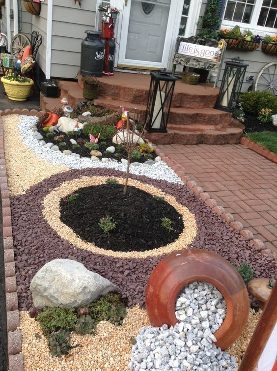 30 Wonderful Diy Ideas With Stone Flower Beds Stone Flower Beds