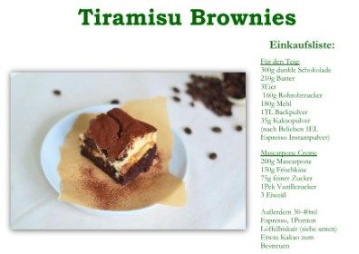Tiramisu Brownies! Dessert, Kuchen oder beides?   Das Knusperstübchen