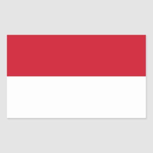 Flag Of Indonesia Rectangular Sticker Indonesia Flag Indonesian Flag Print Stickers