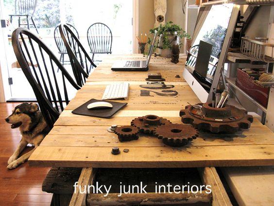 linda mesa de paletes   ideias de fim de semana