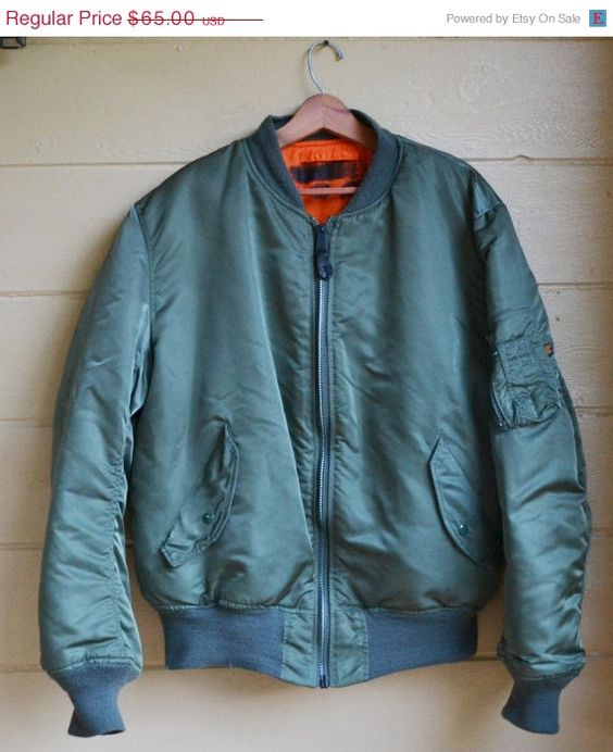 Vintage Flight Jacket Alpha Industries MA 1 U.S. Air Force Flight ...