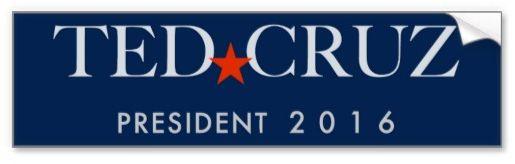 Ted Cruz- President 2016  Bumpersticker.