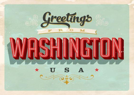 Washington D.C. - Vintage Style | Urlaubsgrüße | Echte Postkarten online…