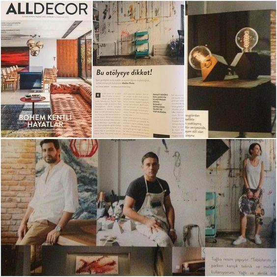 #konkreatif bu ay #alldecor 'da tesekkurler #atelierporta ve #alldecor 'a by konkreatif