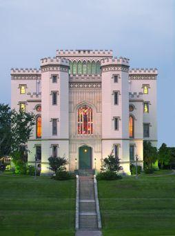 Baton Rouge's Old State Capital building- Baton Rouge Louisiana