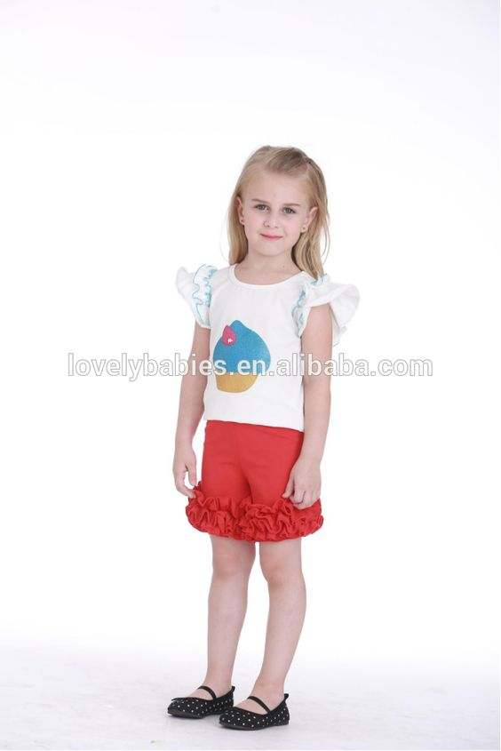 new arrival Wholesale childrens boutique clothes summer ruffle leggings little girls boutique clothing style